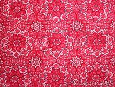 0,5 m Stoff Baumwolle Indien@rot Ornamente Ökotex Standard 100 vintage