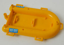 H21 VINTAGE GEOBRA PLAYMOBIL YELLOW BOAT RAFT DINGHY PONTOON AX-317