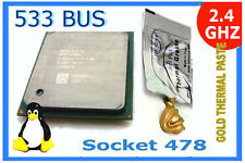 2.4 GHz P4 Socket 478 CPU.  533 MHz Bus  +GOLD HeatSink Compound SL6RZ Pentium4