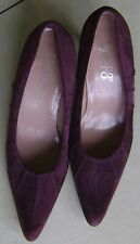 Franco Sarto Burgundy Suede Court Shoes - 40 (7)