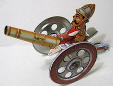 Mobile Cannon - Steel Tin Toy Replica - Spring Lever Forward Movement - New