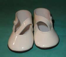 pair of doll shoes/patent leather imitation 3.2""