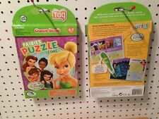Leap Frog Tag Reader Book Disney Faries Puzzle Time Games Tinkerbell New In Box