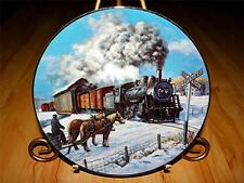 """Country Crossroads"" WINTER RAILS Train by Ted Xaras Hamilton Plate Collection"