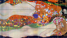 Art Gustav Klimt Water Serpents Ceramic Mural Backsplash Bath Tile #2011