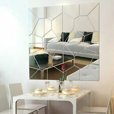 7Pcs Self Adhesive Removable Mirror Decal Art Mural Wall Sticker DIY Home Decor