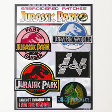 JURASSIC PARK / WORLD Park Patches - Iron-On Patch Mega Set #30 - FREE POST