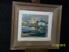 Seascape *Rene' Le Forestier* French Listed Artist Original Oil On Canvas-Signed