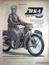 1954 Motor Cycle ADVERT - B.S.A. '125cc Bantam' (£68 + P.Tax) Print AD