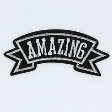 AMAZING letter New Hot sale DIY Embroidery Iron on patches sewing applique