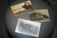PRIVATE PHOTO POSTCARD CARAVAN Llyn Coron, Bodorgan, Isle of Anglesey LL6 WALES