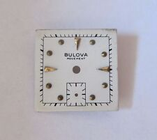VINTAGE BULOVA SQUARE WRIST WATCH DIAL FACE  19.7 mm NOS