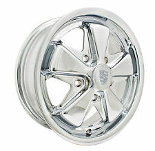 EMPI VW BUG BUS GHIA 911 ALLOY WHEELS 15X5-1/2, 5-130  ALL CHROME