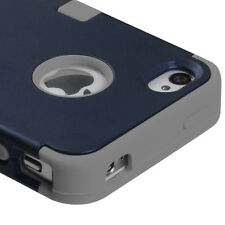 For Apple iPhone 4 4S HYBRID ShockProof Rugged Hard Protective Case Cover Navy