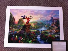 Thomas Kinkade Fantasia Signed & Numbered Disney Lithograph Print Mickey Mouse