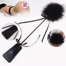 Leather&Feather Whip Flogger SM Kinky Sex Tool Restraint Fetish Adult Game