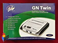 New Yobo GN Twin - Plays 8-bit Nintendo NES & 16-bit SEGA Genesis Games - SILVER