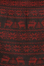 Plus Size Women's Winter Warm Snowflake Reindeer Pattern French Terry Leggings
