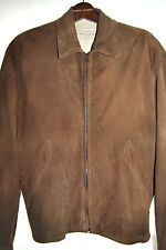 Seraphin Made in France Med. Brown PEAU SKIN Leather Zip Bomber Jacket sz 50