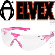 Elvex Avion Pink SMALL Slim Clear Safety Glasses Women Shooting Z87+