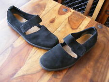 My Ecco Womens Ladies Black Suede Mary Jane Velcro Shoes UK 7.5 1/2 EU 41 D