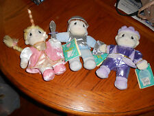 PRECIOUS MOMENTS Once Upon A Tale Plush - LOT OF THREE