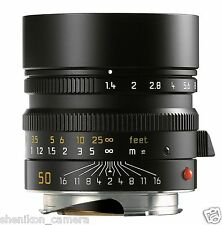 100% New Unused Leica SUMMILUX-M 50mm F1.4 f/1.4 ASPH. 6-Bit Black M 240 11891