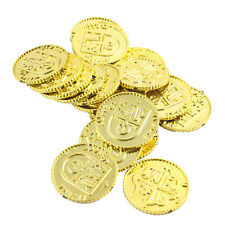 50x Plastic Pirate Gold Play Toy Coins Birthday Party Favors Pinata Money Coin