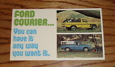 Original 1975 Ford Truck Courier Brochure Postcard 75 Pickup