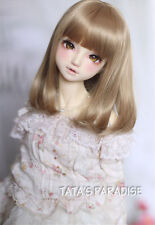 1/3 22-24cm BJD Wig Milk Tea Long Curly Hair For BJD Dollfie
