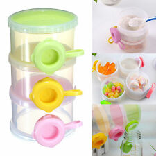 Portable Cute Baby Formula Milk Powder 3 Compartment Dispenser Container Storage