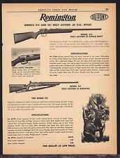 1956 REMINGTON Model 514 Single Shot & 521 Repeater Bolt Action .22 Rifle AD