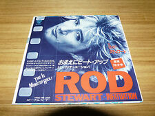 "ROD STEWART Infatuation JAPAN 7"" w/Flyer P-1854"