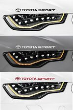 For Toyota - 2 X 'TOYOTA SPORT' - HEADLIGHTS -  VINYL CAR DECAL STICKER  - TT