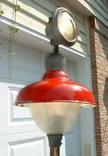 "Revere Gas Station Island Light 20"" Globe Red Porcelain Industrial Sign Lamp"