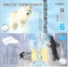 ARCTIC Territories 6 Dollars Banknote World Money Currency FUN BILL ARTIC FOX