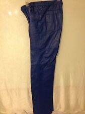 METRO STYLE BLUE LEATHER PANTS SIZE 8