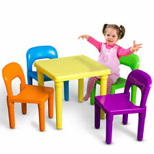 Kids Table and Chairs Play Set Toddler Child Toy Activity Furniture In-Outdoor