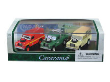 LAND ROVER 3pc GIFT SET IN DISPLAY CASE 1/72 DIECAST CAR MODELS CARARAMA 71311
