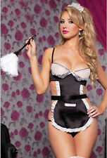 Women Lingerie Maid Sexy Fancy Dress G-string Costume Outfit Cosplay