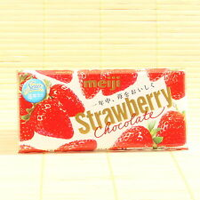 Japan Meiji STRAWBERRY FILLED Ichigo Chocolate Japanese Candy 46gm sectional bar