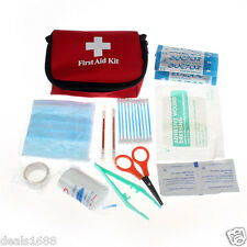 Emergency Survival First Aid Kit Pack Travel Medical Sports Home Carry Bag