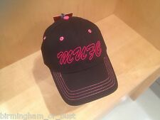 BNWT Official Manchester United Womens Black & Pink MUFC Football Baseball Cap