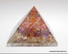 Reiki énergie chargé améthyste clair/rose quartz orgone pyramide puissant guérison