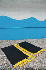 Hobie Cat 16 Trampoline New Black Mesh with Pocket And Yellow Tough Wrap
