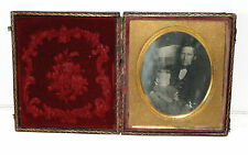 Eerie sixth plate Post Mortem of father holding his dead young girl - No Reserve