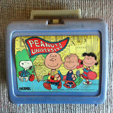 VINTAGE CHARLIE BROWN GANG PEANUTS UNIVERSITY PLASTIC LUNCH BOX NO THERMOS