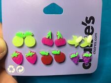 Six Pairs Of Claire's Neon Fruit Stud Earrings New