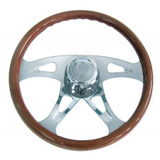 "18"" Boss Steering Wheel Wood for Peterbilt 1998+, Kenworth 2001+, Western Star"