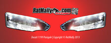 WSB STYLE HEADLIGHT STICKERS - DUCATI 1199 PANIGALE - RACE TRACK GRAPHICS